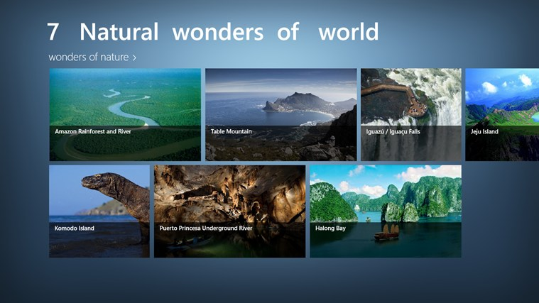 Natural wonders of the world essay