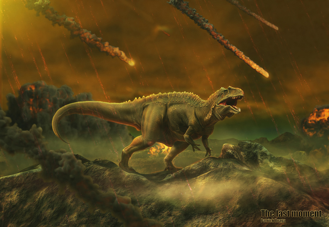 extinction of dinosaurs The extinction of non-avian dinosaurs except birds at the end of the cretaceous has intrigued paleontologists for more than a century one theory is that an asteroid impact 65 million years ago off the coast of mexico generated massive tsunamis, with impact debris cutting off sunlight for months, stopping photosynthesis and.