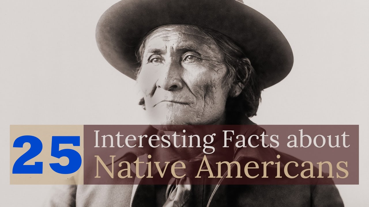 25 interesting facts about native americans a1facts for Fun facts about america